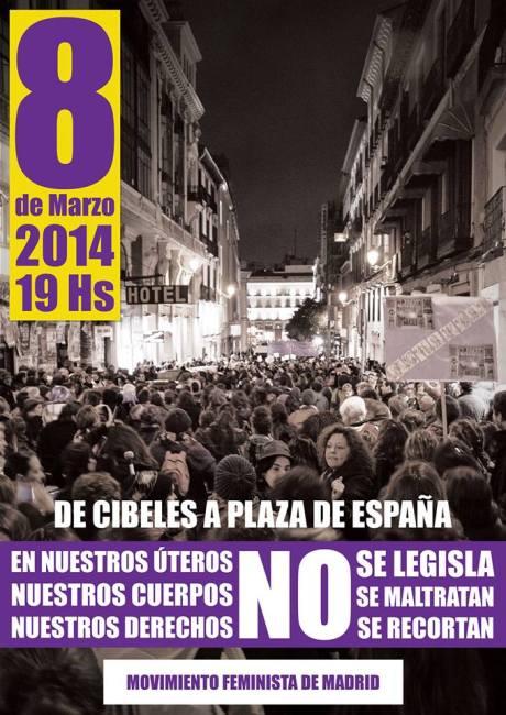 MANIFESTACIÓN OCHO DE MARZO EN MADRID