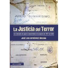 La justicia del terror. portada libro